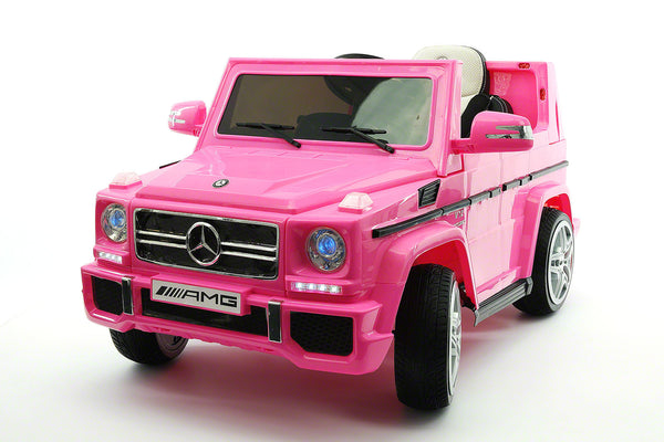 Moderno Kids Mercedes G65 AMG 12V Kids Ride-On Car with Parental Remote | Pink