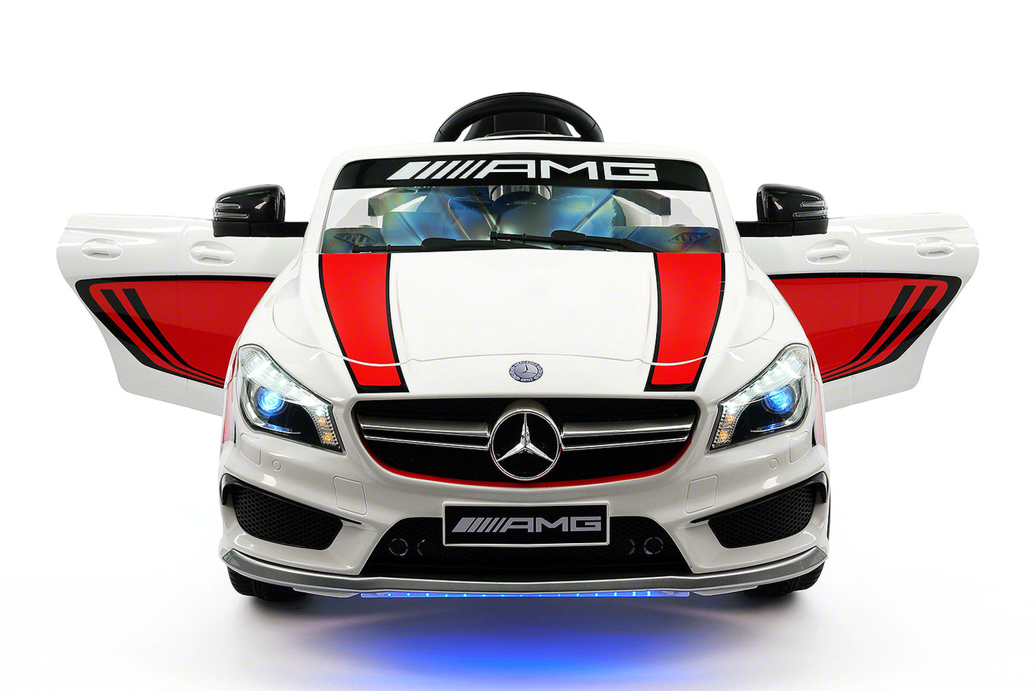 mercedes cla45 sport 12v kids ride on car with rc parental remote white