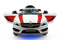 Moderno Kids Mercedes CLA45 Sport 12V Kids Ride-On Car with R/C Parental Remote | White