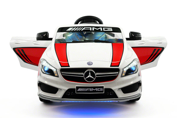 Moderno Kids Mercedes CLA45 Sport 12V Kids Ride-On Car with R/C Parental Remote | White - www.ModernoKids.com