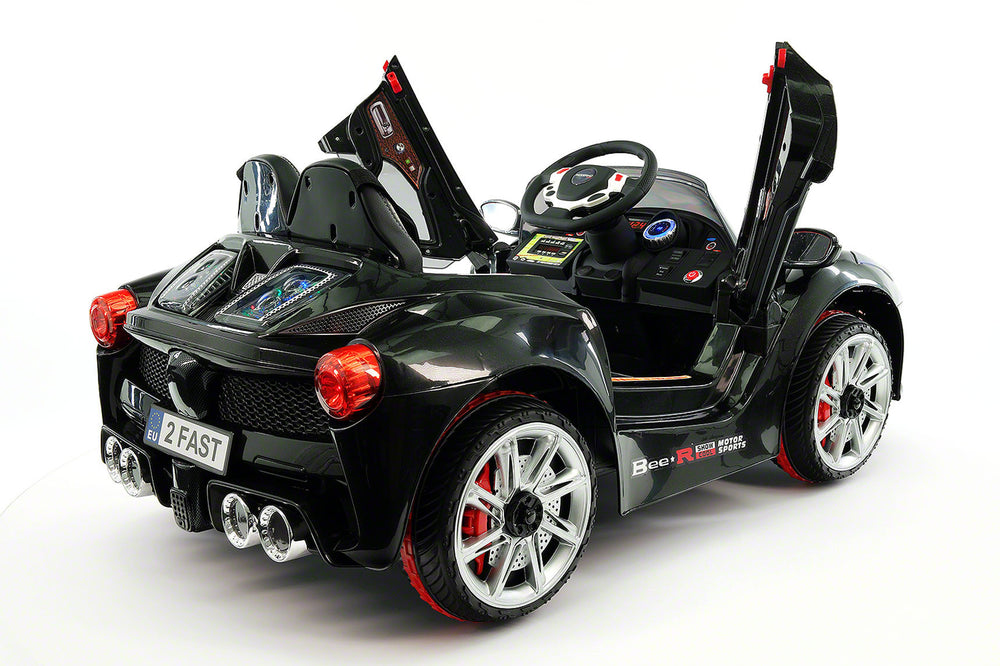 Spider GT Kids 12V Ride-On Car with R/C Parental Remote | Black