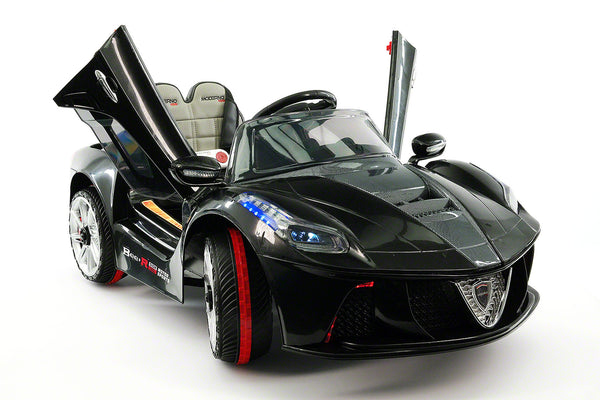 Moderno Kids Spider GT Kids 12V Ride-On Car with R/C Parental Remote | Black