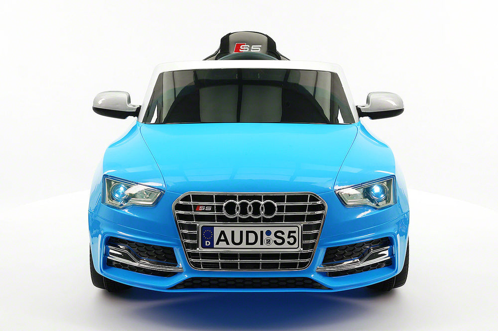 Audi S5 Sport 12V Electric Kids Ride-On Car with Parental Remote | Blue