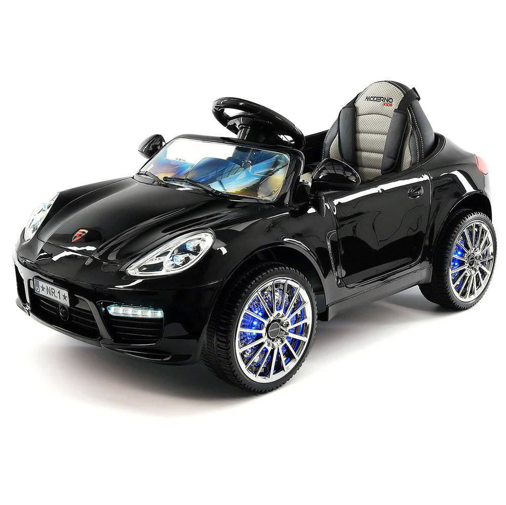 Kiddie Roadster 12V Kids Electric Ride-On Car with R/C Parental Remote | Black Metallic