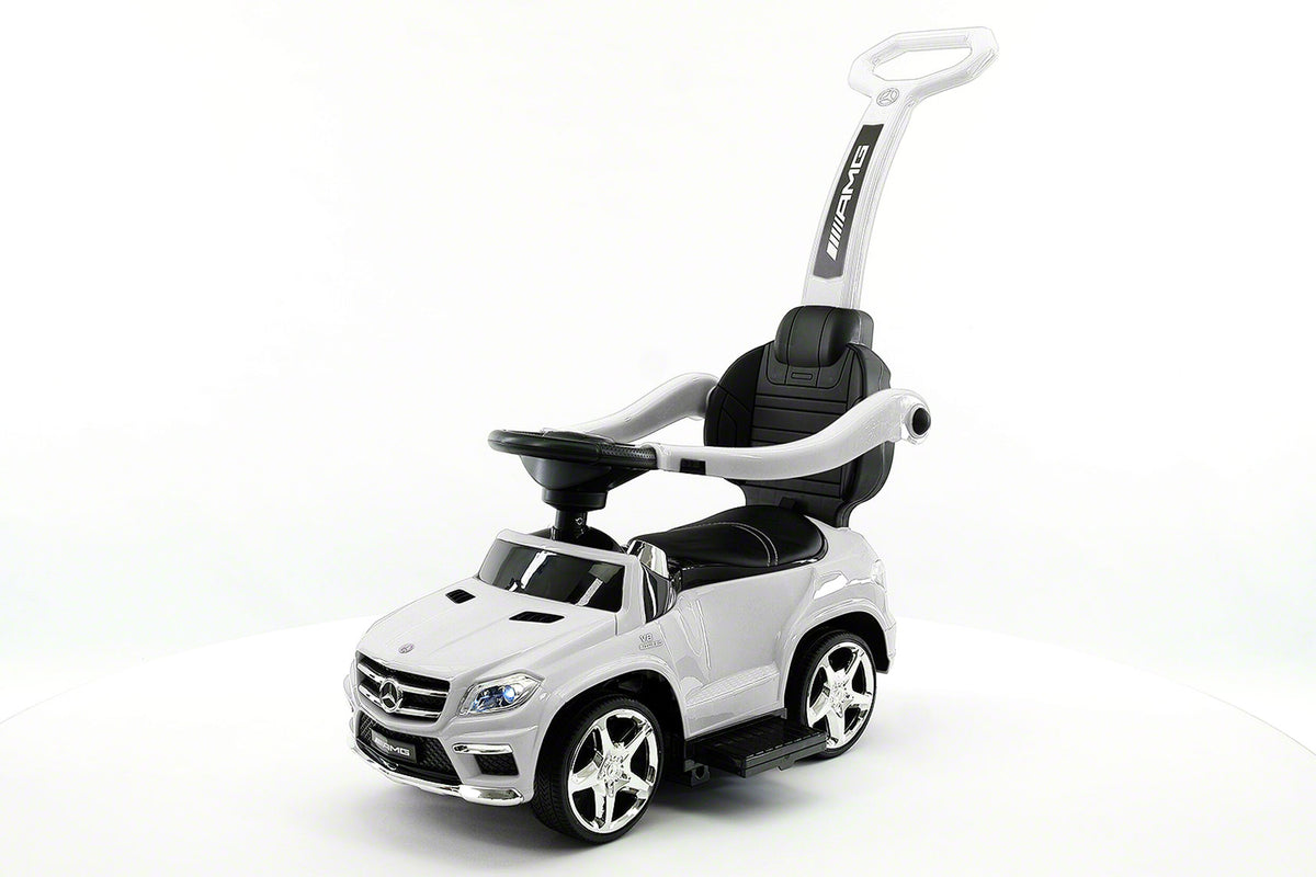 Mercedes Gl63 Kids Convertible Ride On Push And Foot To Floor Car White