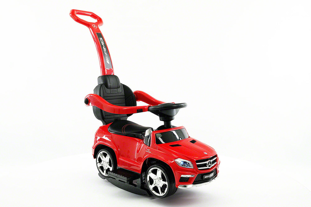 Moderno Kids Mercedes GL63 Kids Convertible Ride On Push and Foot to Floor Car | Red - www.ModernoKids.com