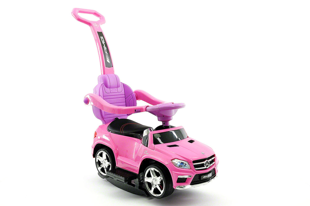Moderno Kids Mercedes GL63 Kids Convertible Ride On Push and Foot to Floor Car | Pink - www.ModernoKids.com