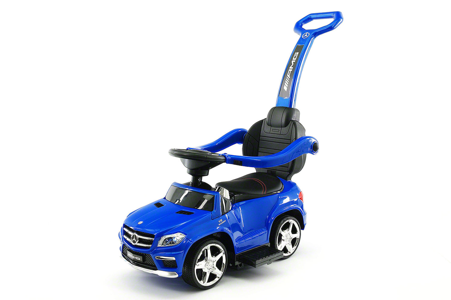 mercedes gl63 kids convertible ride on push and foot to floor car blue