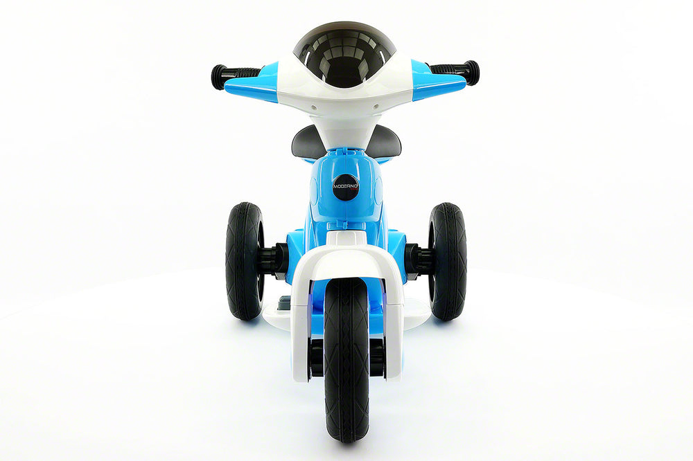 Moderno Kids VIP 12V Electric Kids Ride On Tricycle with LED Wheels and MP3 Player | Blue