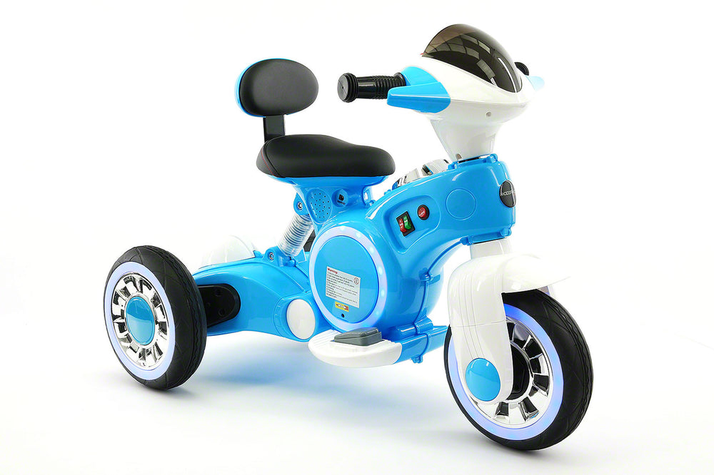 VIP 12V Electric Kids Ride On Tricycle with LED Wheels and MP3 Player | Blue
