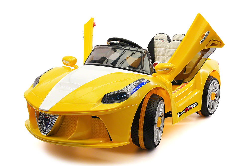 Moderno Kids Spider GT Kids 12V Ride-On Car with R/C Parental Remote | Yellow