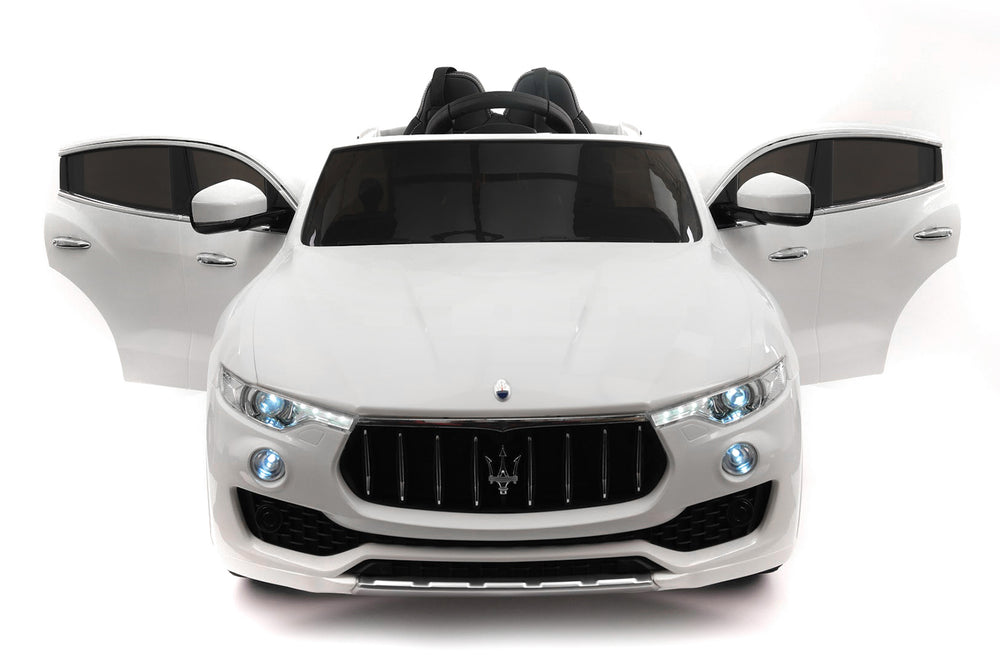 Moderno Kids Maserati Levante 12V Kids Ride-On Car with R/C Parental Remote | White