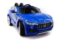 Moderno Kids Maserati Levante 12V Kids Ride-On Car with R/C Parental Remote | Blue