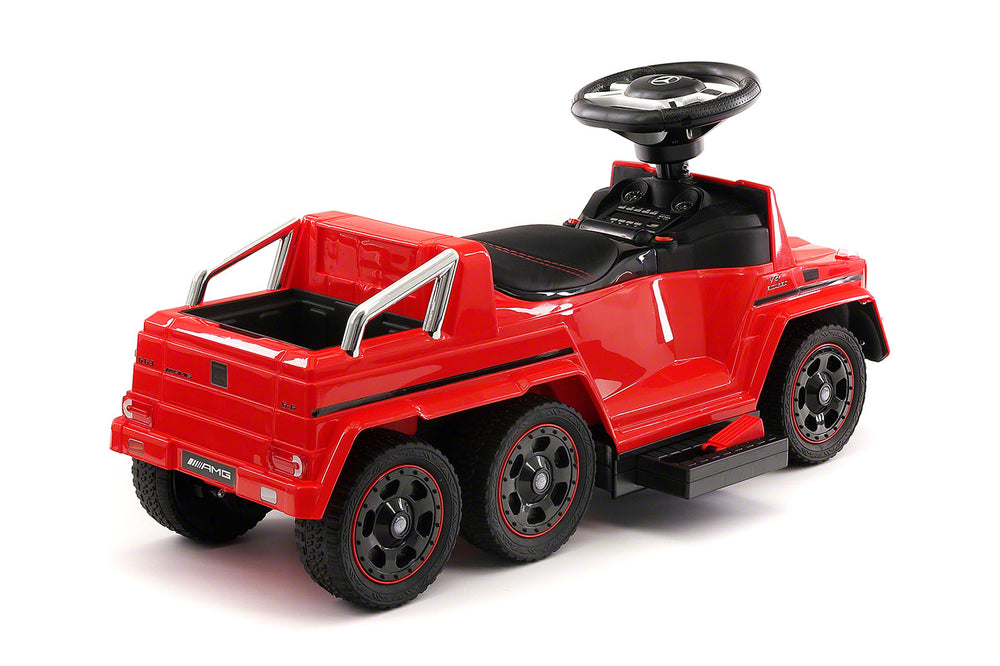 Moderno Kids Mercedes G63 AMG 6x6 Children Electric Ride On Convertible Push and Foot to Floor Car | Red