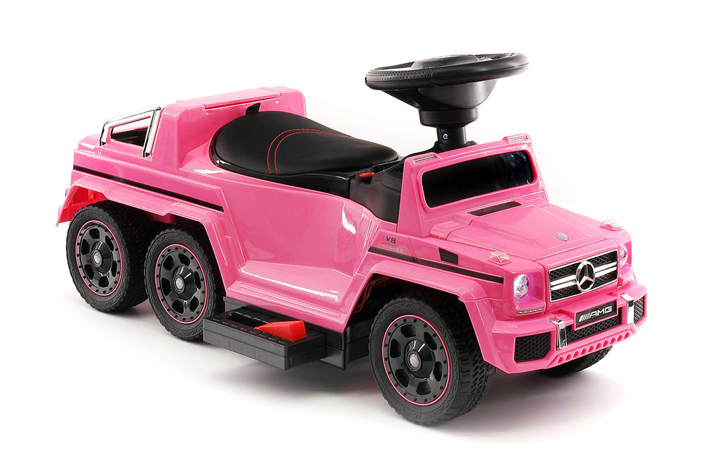 Moderno Kids Mercedes G63 AMG 6x6 Children Electric Ride On Convertible Push and Foot to Floor Car | Pink