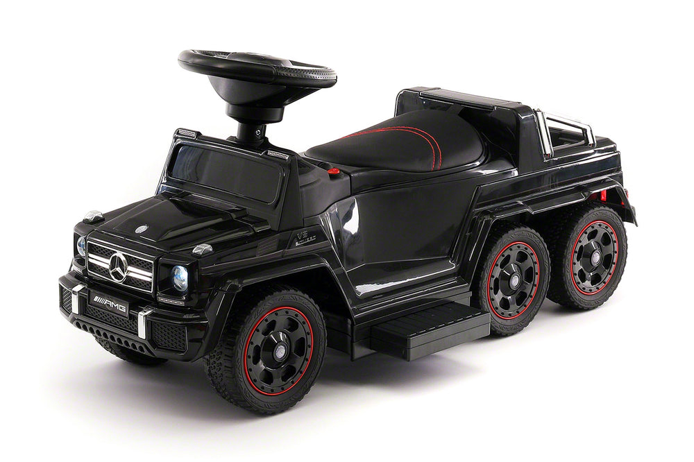 Moderno Kids Mercedes G63 AMG 6x6 Children Electric Ride On Convertible Push and Foot to Floor Car | Black