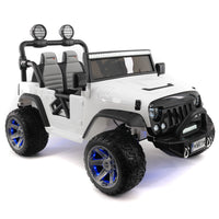 Moderno Kids Explorer 12V Kids Ride-On Car Truck with R/C Parental Remote | White