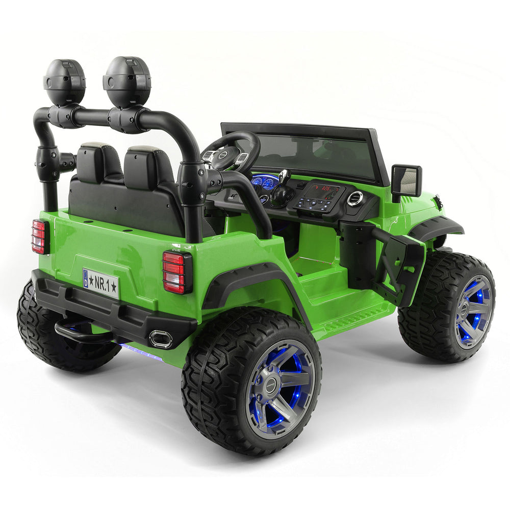 Moderno Kids Trail Explorer 12V Kids Ride-On Car Truck with R/C Parental Remote | Olive