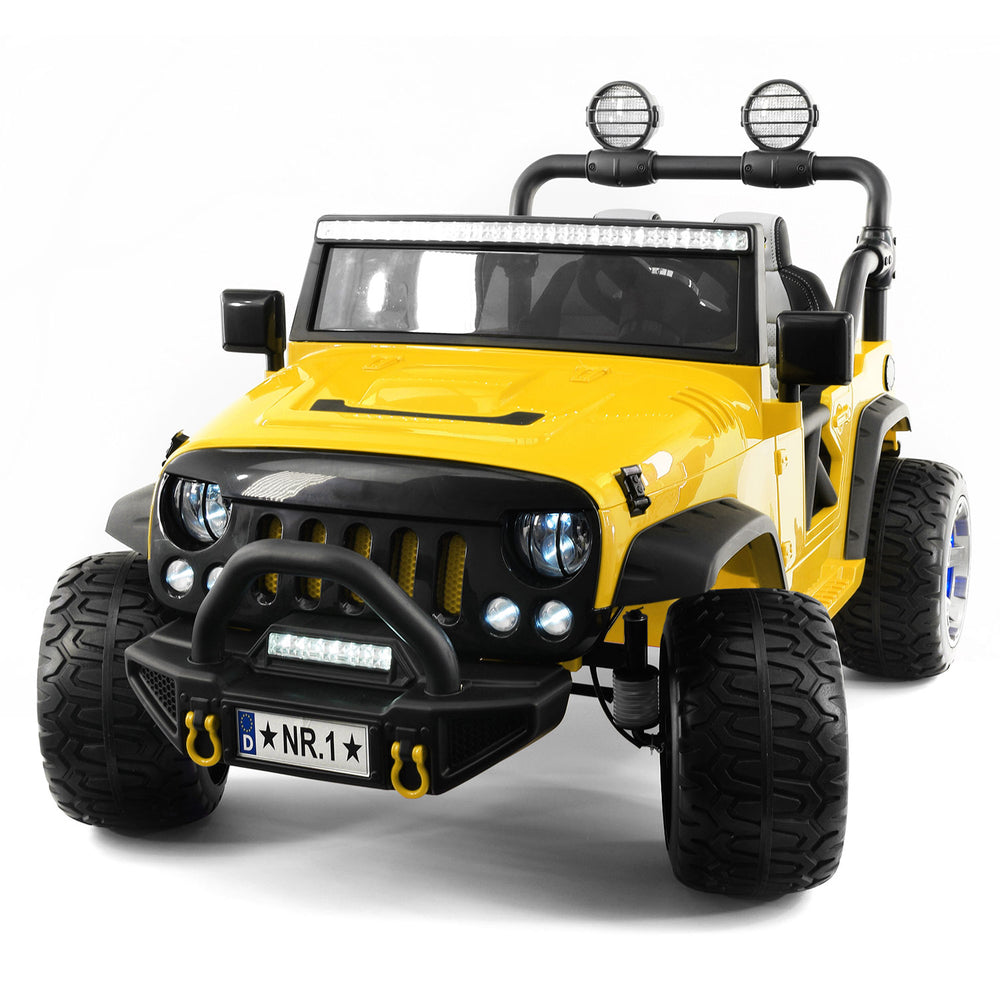 Moderno Kids Trail Explorer 12V Kids Ride-On Car Truck with R/C Parental Remote | Yellow