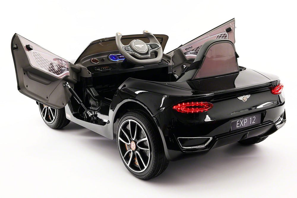 Moderno Kids Bentley EXP 12V Kids Electric Ride-On Car with R/C Parental Remote | Black