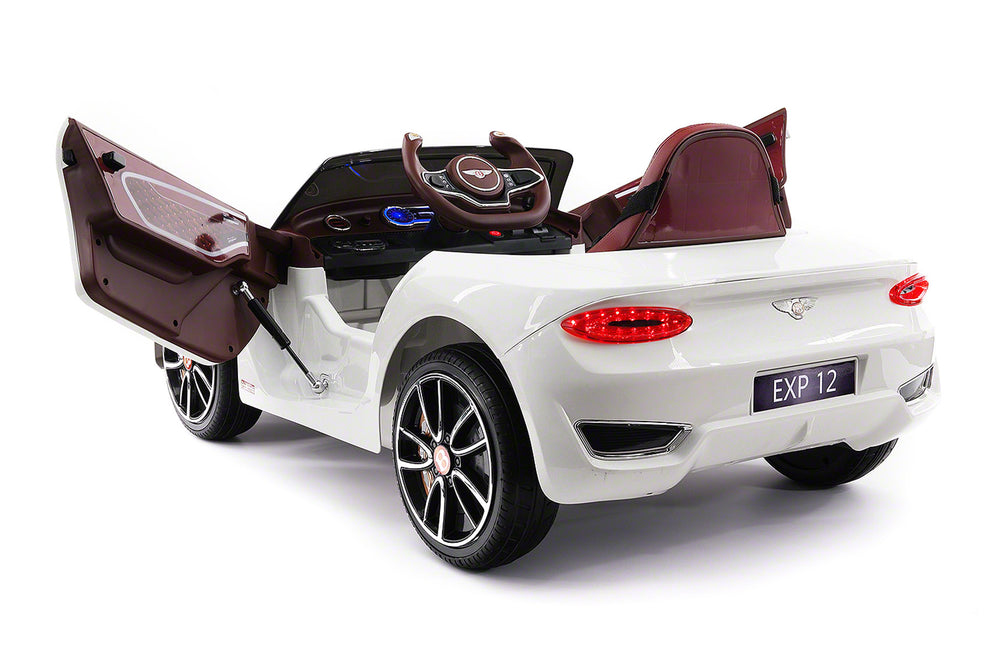 Moderno Kids Bentley EXP 12V Kids Electric Ride-On Car with R/C Parental Remote | White