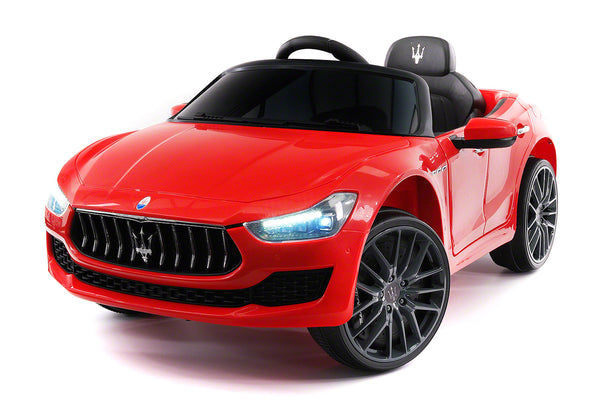Moderno Kids Maserati Ghibli 12V Electric Kids Ride-On Car with R/C Parental Remote | Red