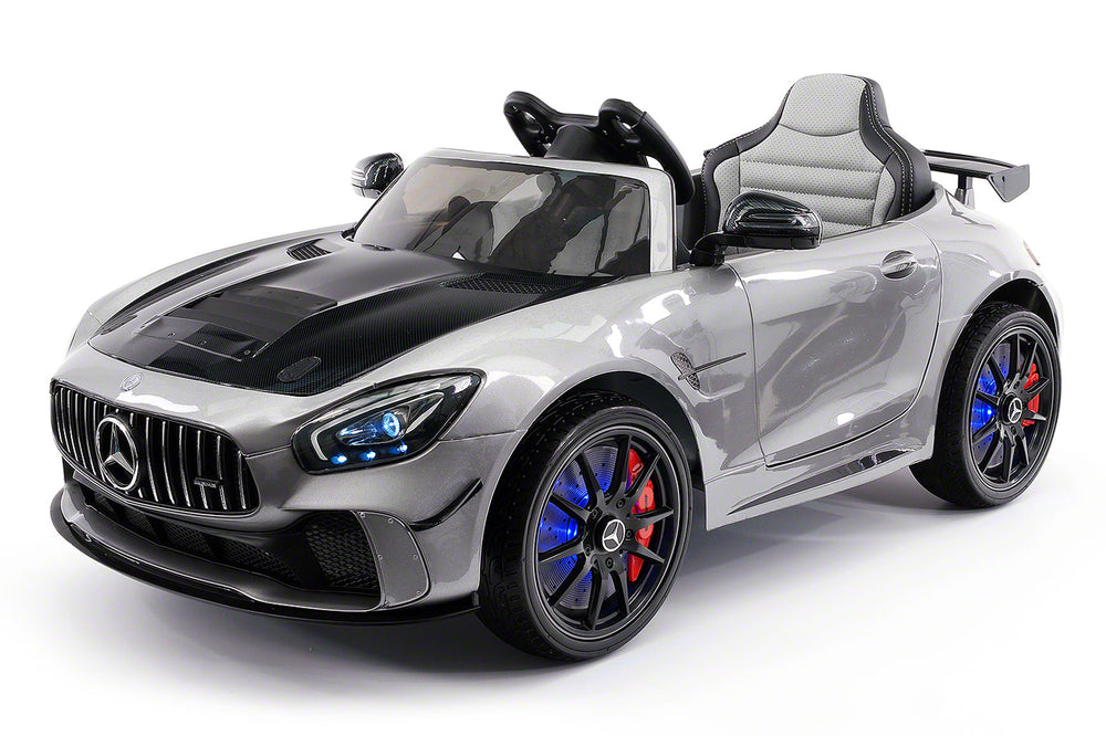 Moderno Kids Mercedes GT AMG 12V Kids Ride-On Car with Parental Remote | Gray Metallic
