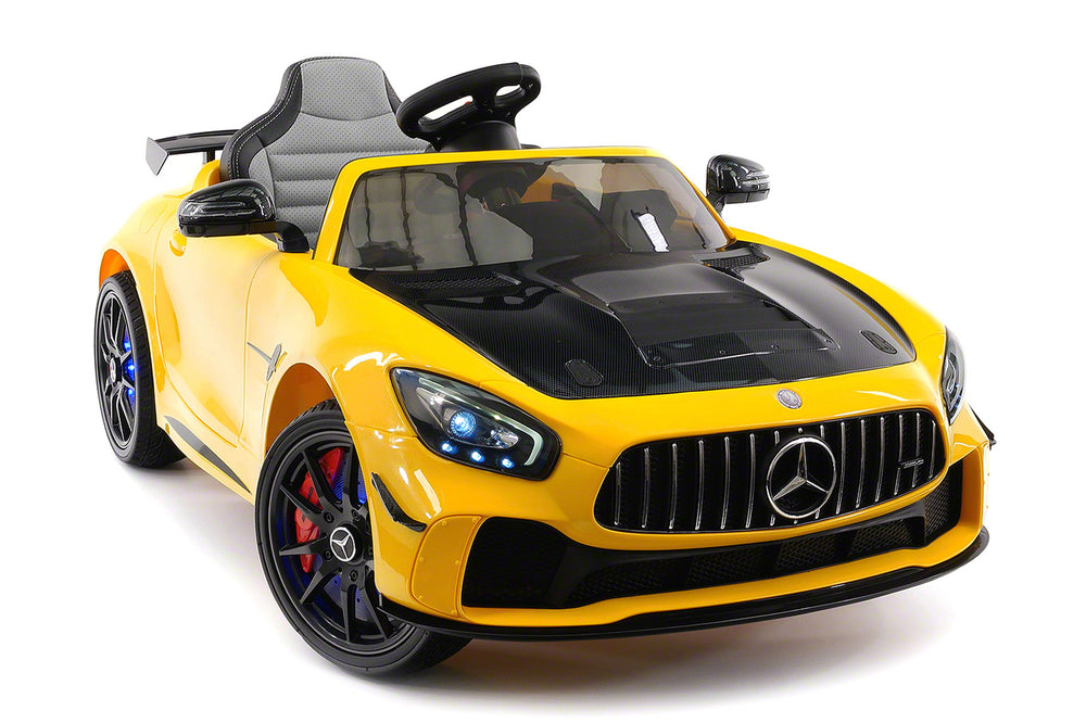 Moderno Kids Mercedes GT AMG 12V Kids Ride-On Car with Parental Remote | Yellow
