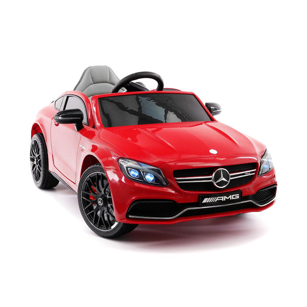 61b1e60023f1 Mercedes C63S 12V Kids Ride-On Car with R/C Parental Remote | Red