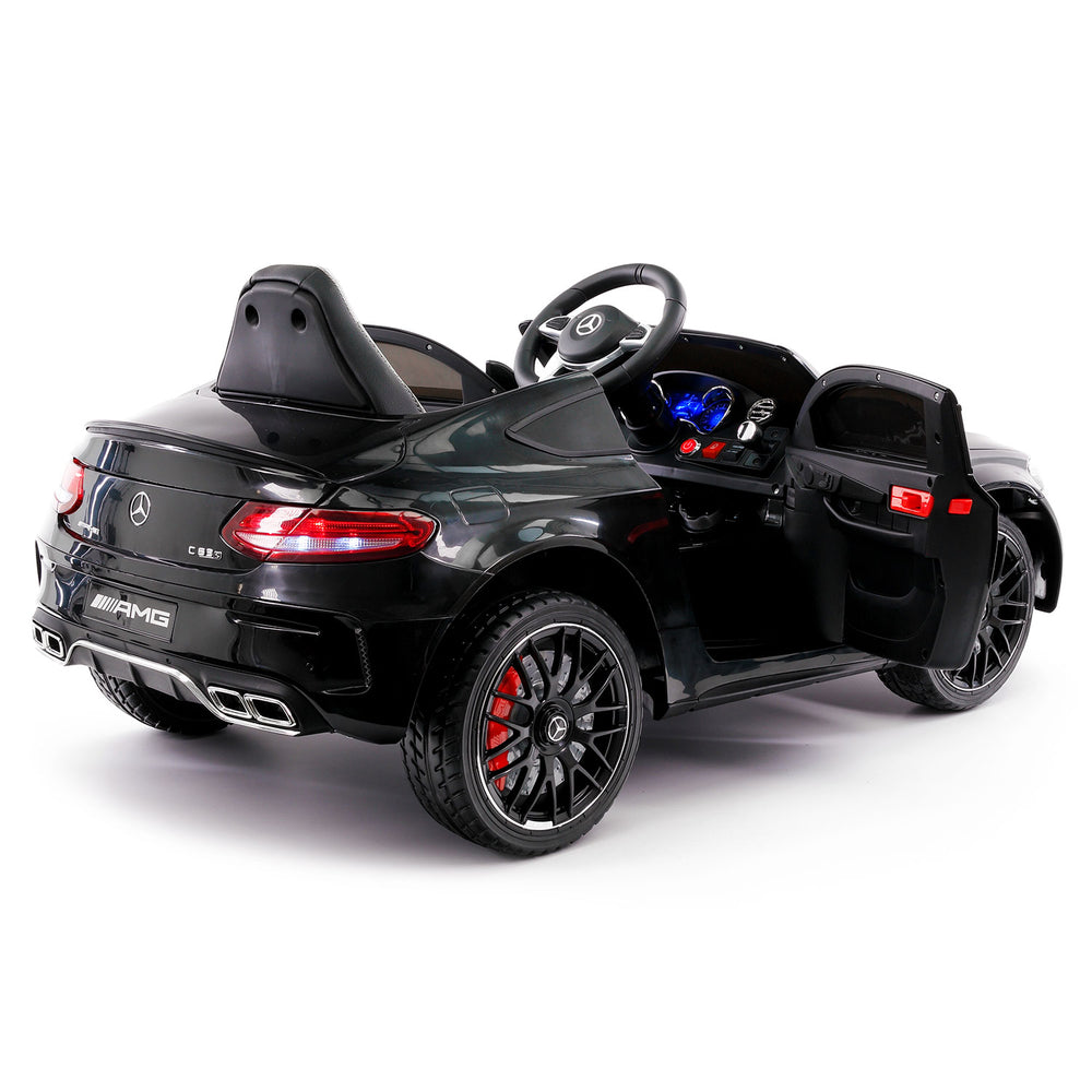Moderno Kids Mercedes C63S 12V Kids Ride-On Car with R/C Parental Remote | Black