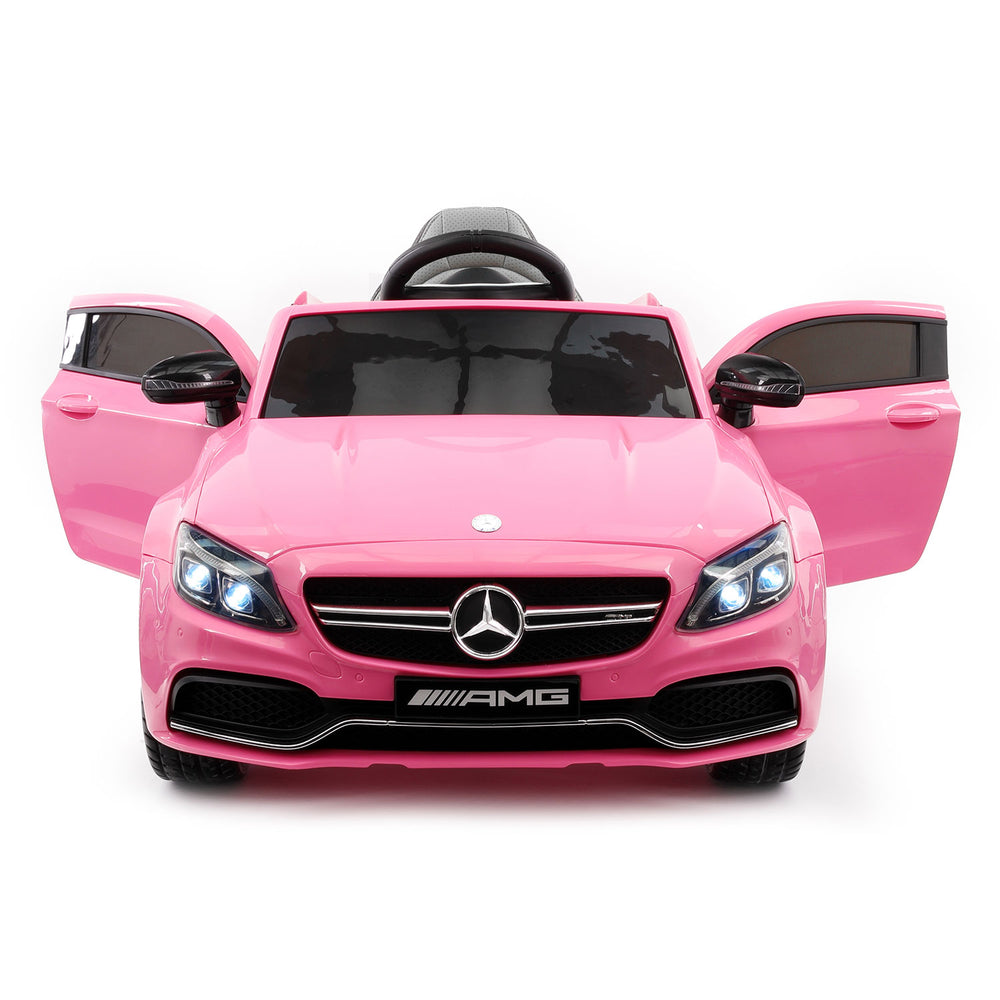 Moderno Kids Mercedes C63S 12V Kids Ride-On Car with R/C Parental Remote | Pink