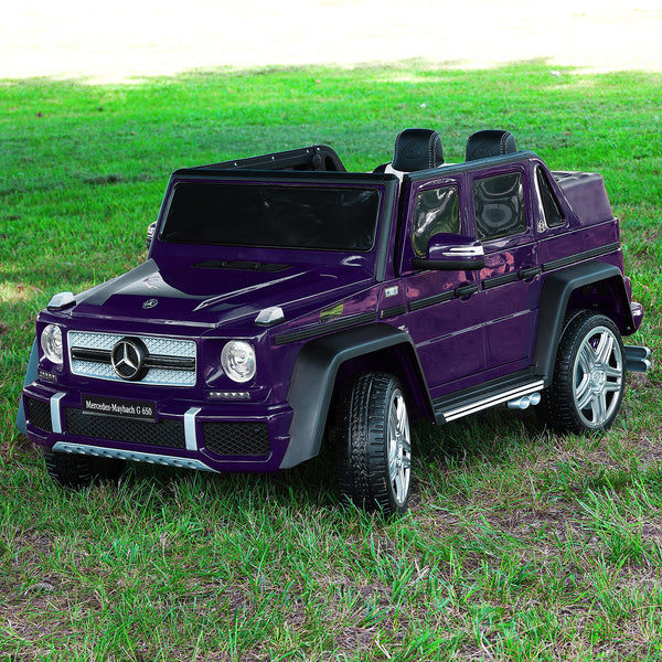 Moderno Kids Mercedes Maybach G650 12V Kids Ride-On Car with Parental Remote | Purple