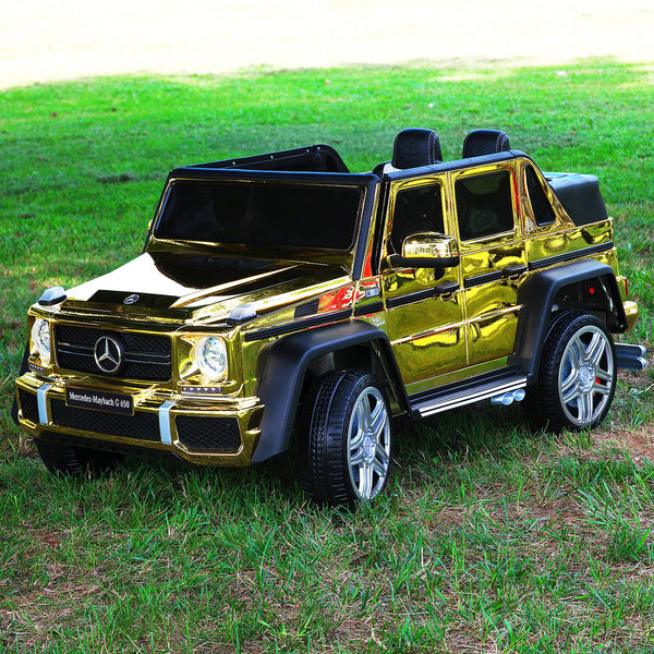 Moderno Kids Mercedes Maybach G650 12V Kids Ride-On Car with Parental Remote | Gold