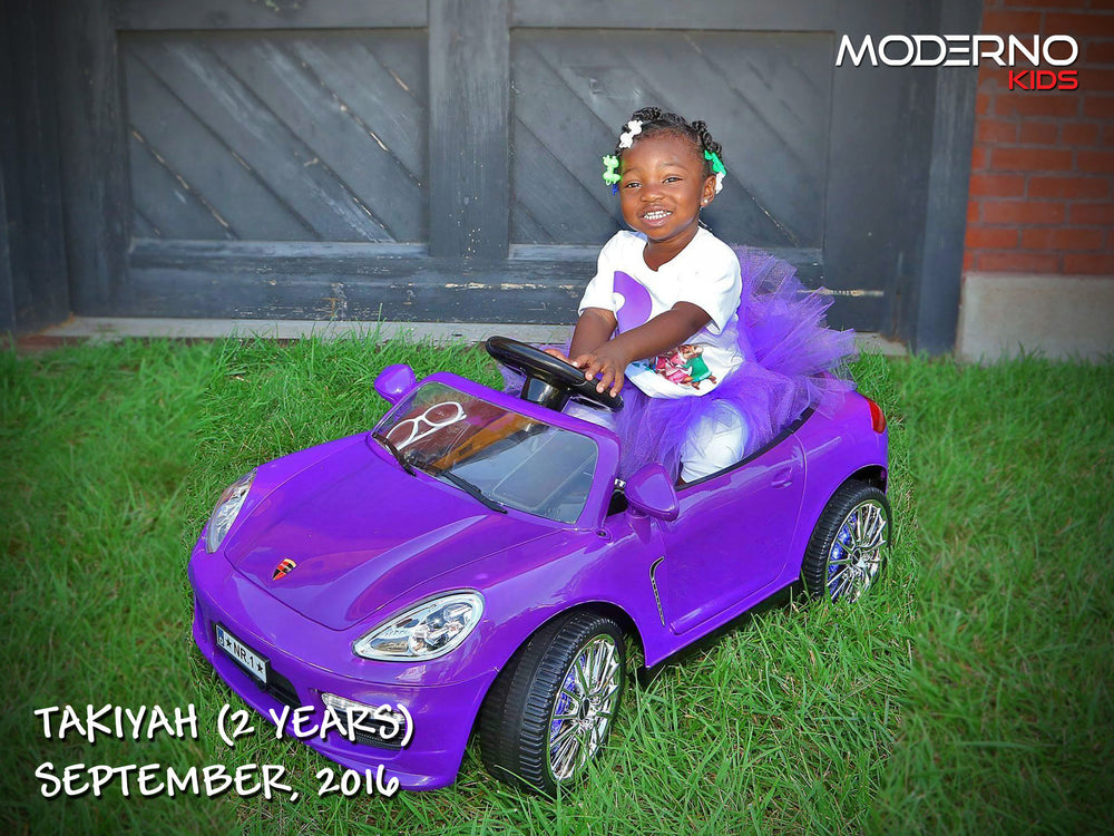 Moderno Kids Kiddie Roadster 12V Kids Electric Ride-On Car with R/C Parental Remote | Purple