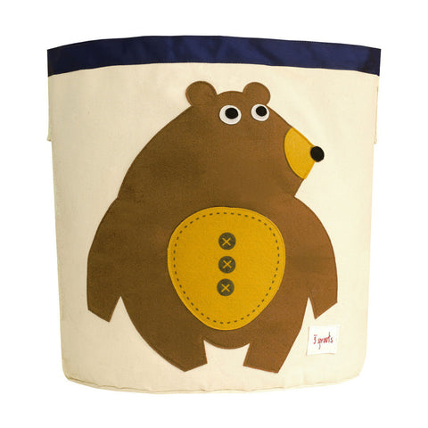 3 Sprouts Baby Room Storage Bin Toffee Bear