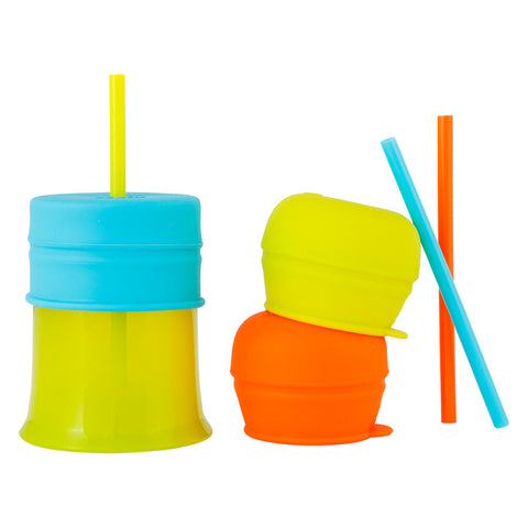 Boon Snug Straw with Cup - Orange Multi