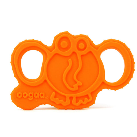 Oogaa Elephant Silicone Teether Elephant Orange