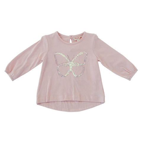 Plum Butterfly Long Sleeve Top