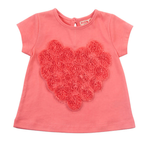 Plum Heart Applique Baby Girl T-shirt