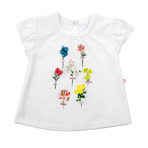 Plum Floral Baby Girl T-shirt