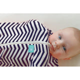 ergoPouch ergoCocoon swaddle Navy Chevron on Baby