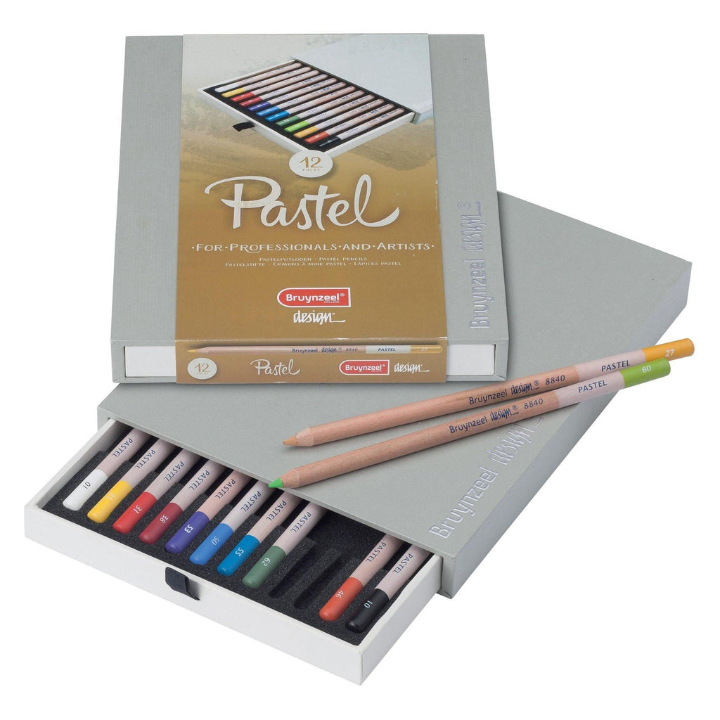 Bruynzeel Pastel Pencils - 12 Pack