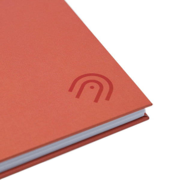 Hard Cover A5 Dot Grid Notebook - Blaze Red