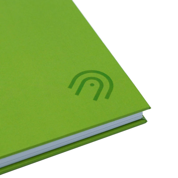 Hard Cover A5 Dot Grid Notebook - Lime Green