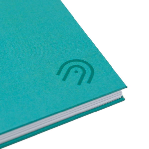 Hard Cover A5 Dot Grid Notebook - Marine Teal