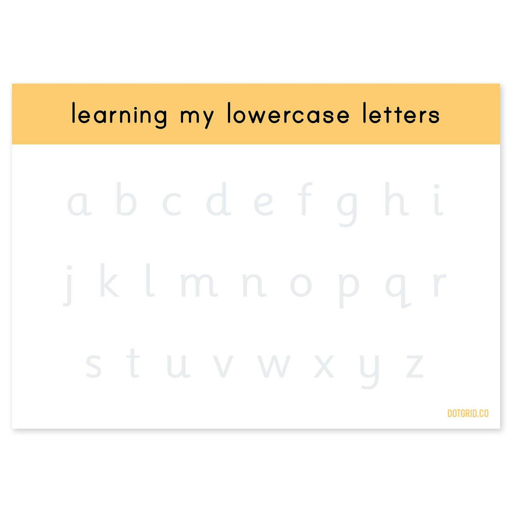 Lowercase Letter Formation Tracing Pad