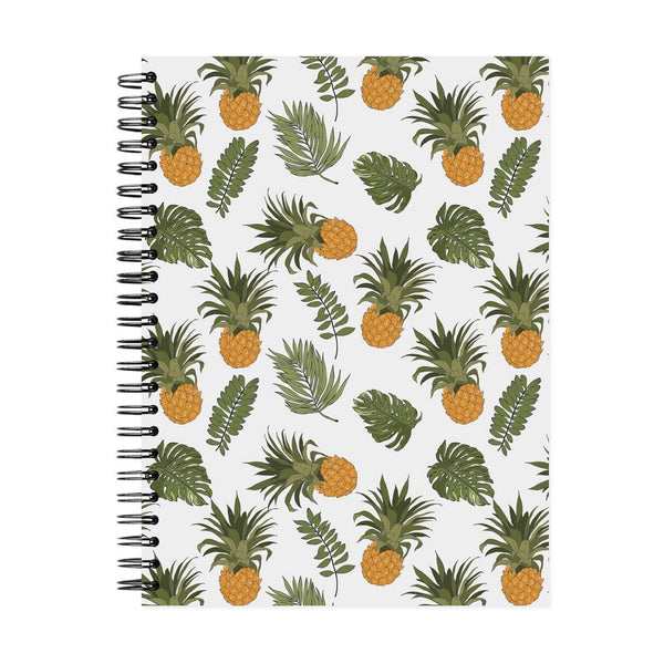 A5 Pineapple Dot Grid Notebook - White Pages