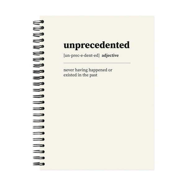 A5 Unprecedented Dot Grid Notebook - White Pages
