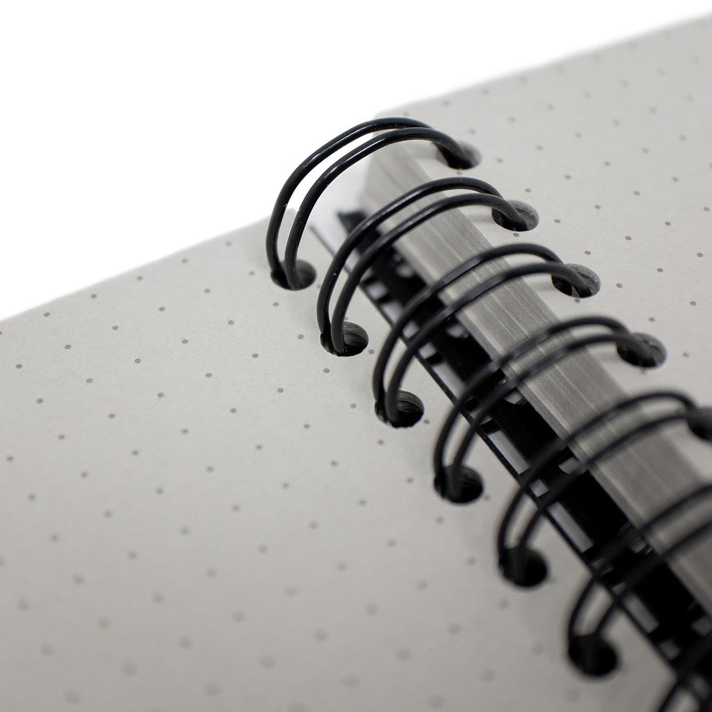 A5 Dot Grid Notebook - Grey Pages