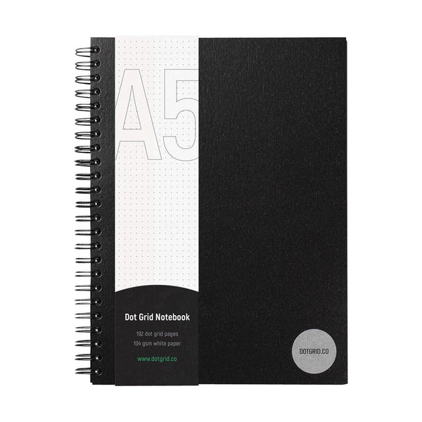 A5 Dot Grid Notebook - White Pages